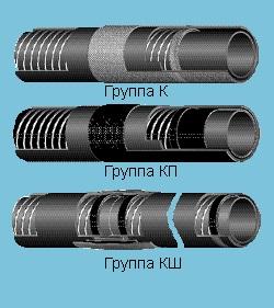 Рукава для подачи кислорода и воздуха (К, КП, КШ) ТУ 38 1059-86